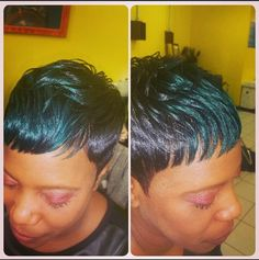 """""""The Simplicity of a Pixie"""" #thedivinecreationhairgallery  #thedivineinstitute4hair  #pixielife #popofcolor  #doit4divine"""