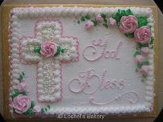 Baptism Sheet Cake, Baptism Cakes, Funeral Cake, First Holy Communion Cake, Cross Cakes, Religious Cakes, Confirmation Cakes, Holiday Cakes, Occasion Cakes