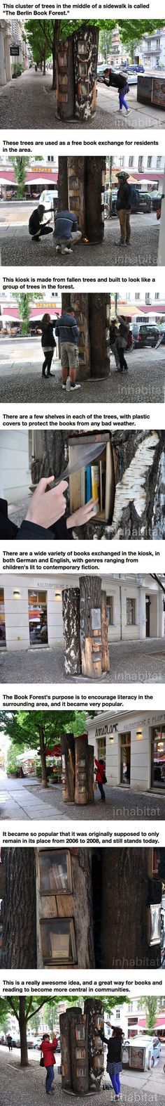 The Book Forest In Berlin. Guys...