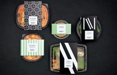 Visual identity and packaging designed by lg2boutique for Quebec City delicatessen Nourcy