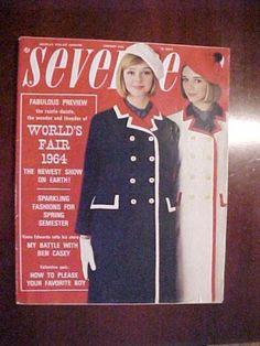 VINTAGE February 1964 SEVENTEEN MAGAZINE Large Issue PHOTOS midcentury FASHION