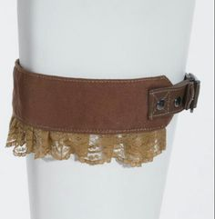 Leather lace garter