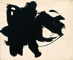 "Robert Motherwell (1915-1991), ""Frontier #6,"" 1958, oil on board, 15 × 18 in"