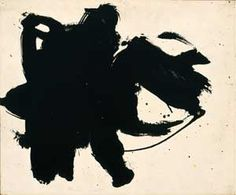 """Robert Motherwell (1915-1991), """"Frontier #6,"""" 1958, oil on board, 15 × 18 in., private collection."""