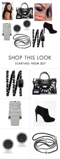 """""""Arianna James - Back in Black"""" by pepper2good4u on Polyvore featuring Chanel, Balenciaga, Theory and New Look"""