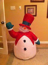 Gemmy snowman chubby inflatable fuckin