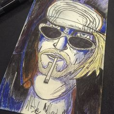 Very rough Cobain sketch for the Friday feeling! #tgif #kurtcobain #rough #sketch #doodle #design #illustration #art #postit #note #penandinktattoo by justinpkr