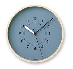Zegar Awa Soso niebieska tarcza - małe zdjęcie