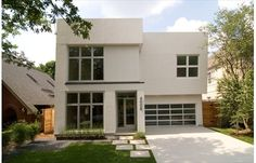simple concrete pavers, modern  Contemporary Home Plan 449-9