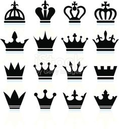 9793e9db0 Download this Simple Crowns Black And White Royalty Free Vector Icon Set  vector illustration now. And search more of iStock's library of royalty-free  vector ...