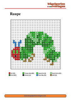 Bügelperlen Vorlagen Raupe Nimmersatt/ Perler Bead Patterns The Very Hungry Caterpillar | by Bügelperlen Vorlagen
