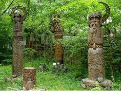 Hill of Witches, Lithuania A sculpture park began in1979 that now has over 80 different wood carvings from local artists...