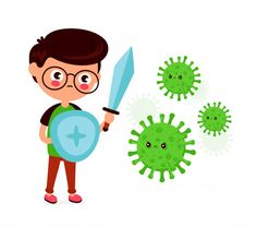Scientist in hazmat suit cleaning disinfecting coronavirus cells epidemic mers-cov virus wuhan pandemic health risk modern city street cityscape Islamic Cartoon, Free To Use Images, Black Pepper Oil, Poster Making, Young Man, Influenza Virus, Drawing S, Caricature, Sword