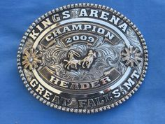 Copper Silver Clint Mortenson Rodeo Trophy Belt Awards Buckle Texas County Rodeo
