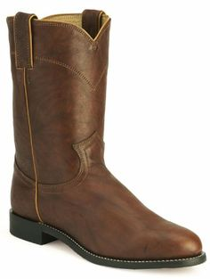 Justin Mens Classic Western Chestnut Leather Boot 10 EE US - http://authenticboots.com/justin-mens-classic-western-chestnut-leather-boot-10-ee-us/