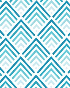 Shades of Blue - Chevron Pattern 8x10 inch Art Print. $17,00, via Etsy.