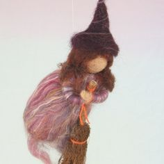 Kitchen witch! Flying Wool Witch. $20.00, via Etsy.