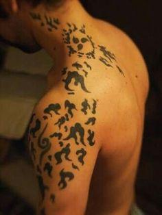 Kimimaro Curse Mark Tattoo