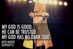 Beth Quote.  Life can sometimes bring the darkest storms, but He knows!!  He never leaves us.   He CAN be trusted.