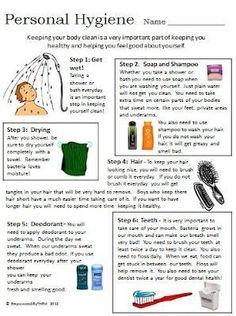Personal Hygiene | Personal Hygiene Worksheets | Pinterest | Personal ...