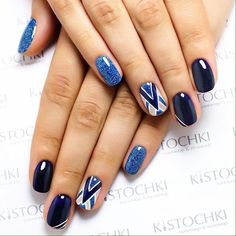 The manicure, which combines several hues of nail polishes and is added with the pattern, is stylish enough today. Use ...