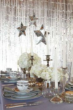 idée de déco de table élégante pour mariage d'hiver