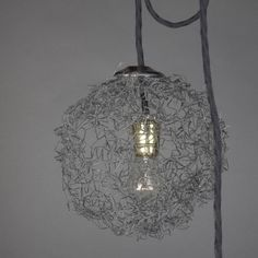 Wire Sphere Lamp (product, no instructions)