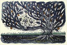 樹の実工房*山福朱実:木版画作品