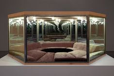 Paul Pfeiffer, The Playroom, 2012 - I don't know why but this room scares the living daylights outta me. Paul Pfeiffer, Infinity Mirror, Loft, Interiores Design, Interior And Exterior, Playroom, Architecture Design, Upholstery, Contemporary Art
