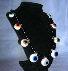 Glass Eyeball necklace by fionaskissfan on Etsy, $200.00