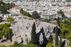 Top 20 things to do in Athens: Tourists gathering on the Areopagus