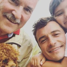 It looks like good genes run in Orlando Bloom's family. The Hollywood actor recently shared a three-generation selfie with his father, Colin Stone, The Pirates, Pirates Of The Caribbean, Hobbit, Miranda Kerr Orlando Bloom, Glam Glow, Orlando Bloom Legolas, Visit Orlando, Pet Friendly Hotels, Good Genes