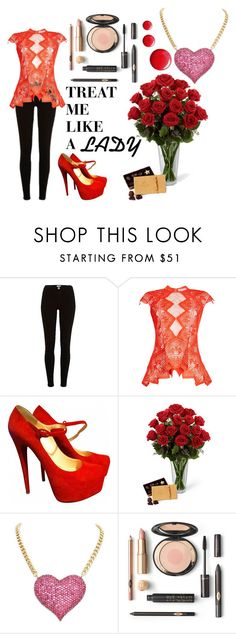 """""""Treat me like a Lady on Valentine's day!"""" by azura123 ❤ liked on Polyvore featuring River Island, Jonathan Simkhai, Christian Louboutin and Topshop"""