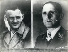 Gestapo Chief Heinrich Mueller in civilian and in uniform