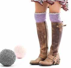 Lace and Button Boot Liners by Pam Powers Knit Kit