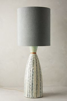 Handpainted Earthenware Table Lamp Ensemble #anthropologie