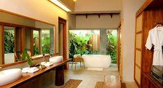 Narra Pool Villa Bathroom at 5 star hotel: The Farm At San Benito. This hotel's address is: 119 Barangay Tipakan Lipa City Batangas and have 33 rooms Bathroom Colors, Zen Bathroom, Master Bathroom, Luxury Travel, Future House, Living Spaces, Sweet Home, New Homes, Interior Design