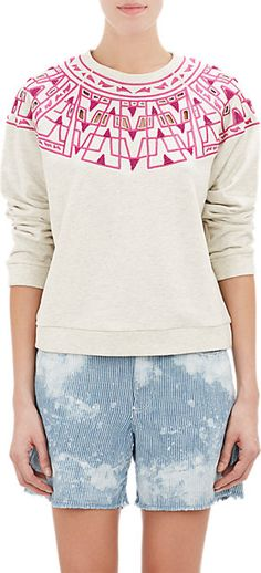 Sea Embroidered Sweatshirt - Tees & Knits - Barneys.com