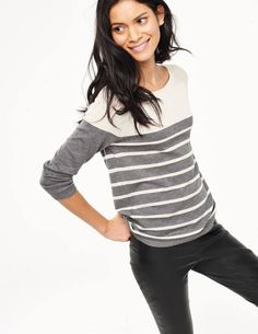Lightweight Striped Sweater WV044 Sweaters at Boden