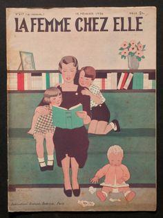 'LA FEMME CHEZ ELLE' FRENCH VINTAGE MAGAZINE 15 FEBRUARY 1936