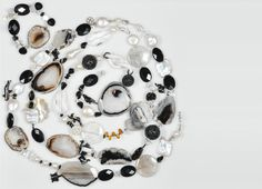 Cultured fresh water pearls, spinel, tourmaline, agate and coral necklace with non-tarnish sterling silver. Can be divided into three separate pieces. Water Pearls, Fresh Water, Separate, Agate, Fine Jewelry, Jewelry Design, Sterling Silver, Horse Farms, Pull Apart