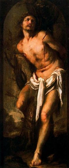 """""""San Sebastián"""", óleo de Juan De Valdés Leal (1622-1690, Spain)"""