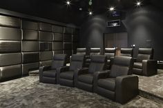 Cinema Room - Interior Design - Private Home - Chigwell - Reis London ltd