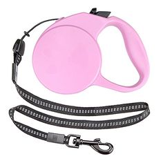 Weebo Pets Extra-Small Retractable Dog Leash with Safety Ribbon (Pink) Dog Accesories, Dog Dental Care, Dog Food Storage, Dog Shower, Dog Shedding, Dog Diapers, Dog Agility, Pink Dog, Outdoor Dog