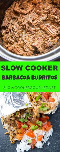 Slow Cooker Barbacoa Burritos are the easy alternative to take-out. A perfect summer family meal all wrapped up!