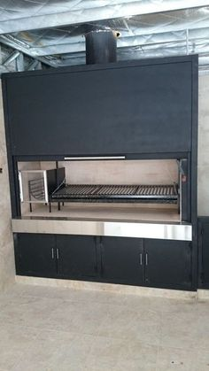 If you have the space in your yard, check out the outdoor kitchen ideas total with bars, seating areas, storage space, as well as grills. Parrilla Interior, Modern Restaurant Design, Argentine Grill, Barbecue Garden, Bbq Bar, Patio Grill, Bbq Grill, 233, Backyard Kitchen