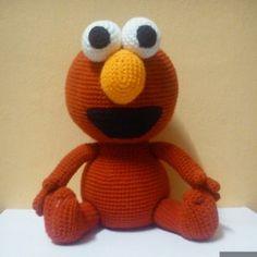 Patrón gratis amigurumi de Elmo