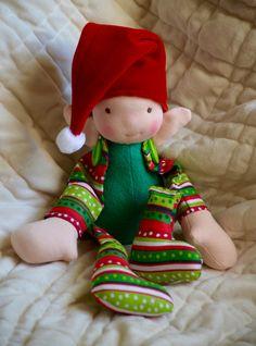 Waldorf inspired Elf by violetandpoppies on Etsy