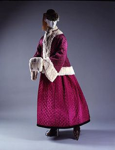 Winter ensemble, ca. 1865; MMA 1980.72.1a, b