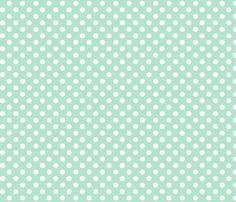 polka dots 2 mint green and white fabric by misstiina on Spoonflower - custom fabric
